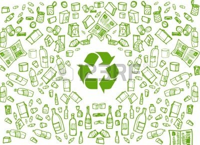 10330757-green-recycling-round-background